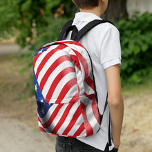 Load image into Gallery viewer, American Flag Backpack-backpack-PureDesignTees