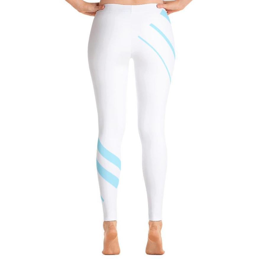 Bold Athletic Striped Leggings-Leggings-PureDesignTees