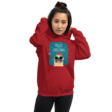 Load image into Gallery viewer, Puggy Christmas Unisex Hoodie-hoodie-PureDesignTees