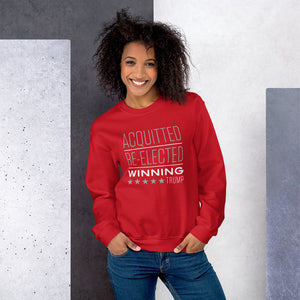 Acquitted Re-elected Winning Trump Unisex Sweatshirt-Sweatshirt-PureDesignTees