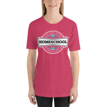 Load image into Gallery viewer, Homeschool Badge Short-Sleeve Unisex T-Shirt-T-Shirt-PureDesignTees