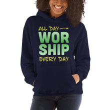 Load image into Gallery viewer, All Day Every Day Worship Hooded Sweatshirt, Hoodie - PureDesignTees