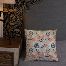 Load image into Gallery viewer, Vintage Japanese Umbrella Pattern Premium Pillow-PureDesignTees
