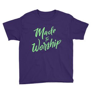 Made to Worship Youth Short Sleeve T-Shirt, t-shirt - PureDesignTees