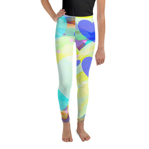 Bright Hearts All-Over Print Youth Leggings-Youth Leggings-PureDesignTees