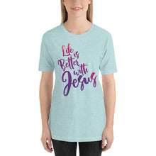 Load image into Gallery viewer, Life is Better with Jesus Short-Sleeve Unisex T-Shirt-t-shirt-PureDesignTees