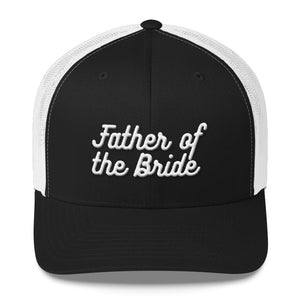 Father of the Bride Trucker Cap-Hat-PureDesignTees