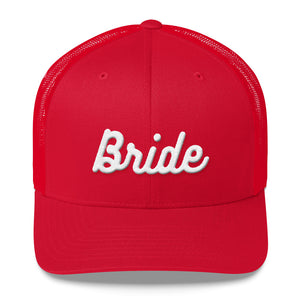 Bride Embroidered Trucker Cap-Hat-PureDesignTees