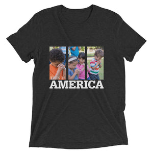 This is America - Children Praying Short sleeve t-shirt-T-Shirt-PureDesignTees