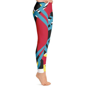 Abstract Leggings-Leggings-PureDesignTees