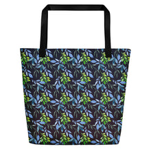 Load image into Gallery viewer, Beautiful Watercolor Plants Beach Bag-Bags-PureDesignTees
