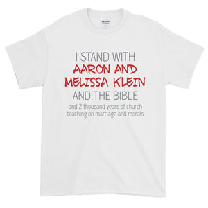 I Stand with Aaron and Melissa Klein T-Shirt-T-Shirt-PureDesignTees