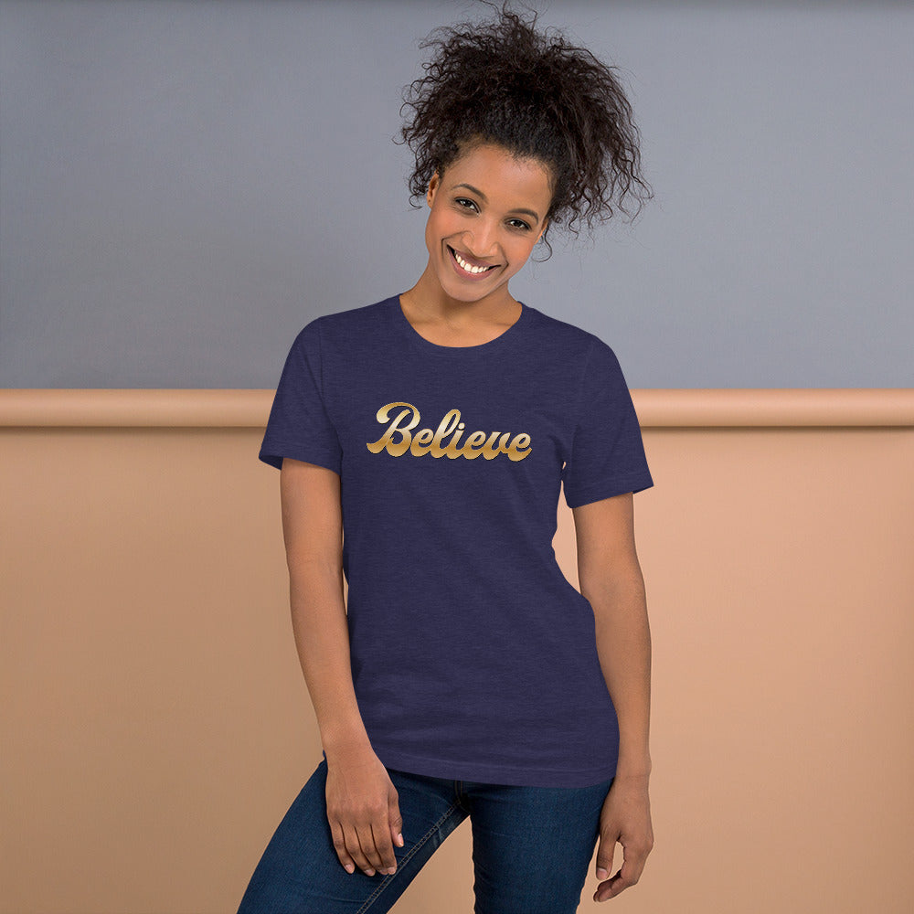 Retro Believe Short-Sleeve Unisex T-Shirt