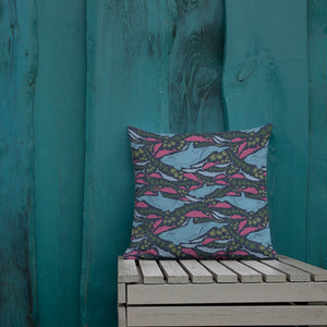 Undersea Pattern Premium Pillow-Premium Throw Pillow-PureDesignTees