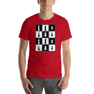 Chess Pieces Grid Short-Sleeve Unisex T-Shirt-T-Shirt-PureDesignTees