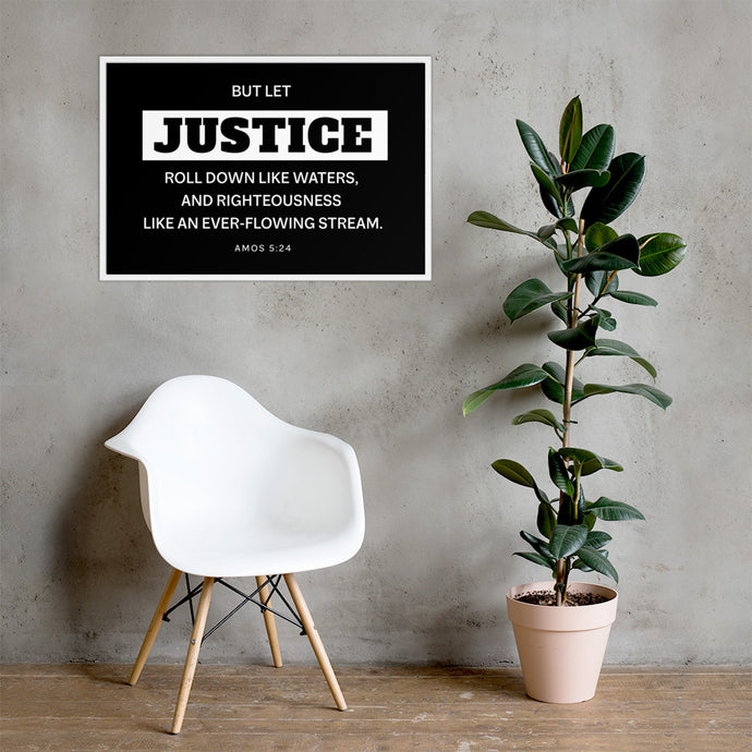 Let Justice Roll Down Framed poster-wall art-PureDesignTees