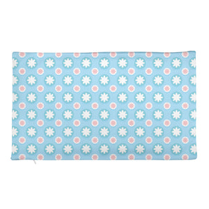 baby blue Rectangular Pillow Case only-PureDesignTees