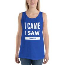 Load image into Gallery viewer, I Came I Saw I Took a Selfie Unisex Tank Top-Tank Top-PureDesignTees
