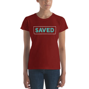 Saved Women's short sleeve t-shirt-t-shirt-PureDesignTees
