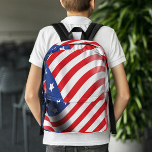 American Flag Backpack, backpack - PureDesignTees
