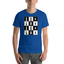 Load image into Gallery viewer, Chess Pieces Grid Short-Sleeve Unisex T-Shirt-T-Shirt-PureDesignTees
