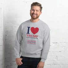 Load image into Gallery viewer, I Heart Trump and Maybe Three Other Republicans Unisex Sweatshirt-Sweatshirt-PureDesignTees