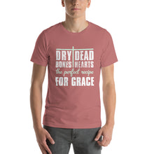 Load image into Gallery viewer, Dry Bones Dead Hearts the Perfect Recipe For Grace Short-Sleeve Unisex T-Shirt-t-shirt-PureDesignTees