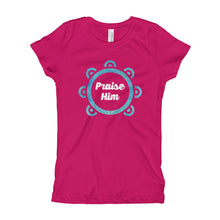 Load image into Gallery viewer, Praise Him with Tambourine Girl's T-Shirt-t-shirt-PureDesignTees
