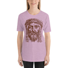 Load image into Gallery viewer, Jesus Portrait with Crown of Thorns Short-Sleeve Unisex T-Shirt-T-Shirt-PureDesignTees