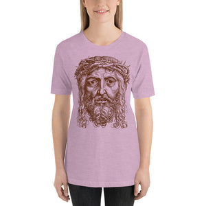 Jesus Portrait with Crown of Thorns Short-Sleeve Unisex T-Shirt-T-Shirt-PureDesignTees