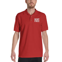 Load image into Gallery viewer, Debt Free! Embroidered Polo Shirt-Polo-PureDesignTees