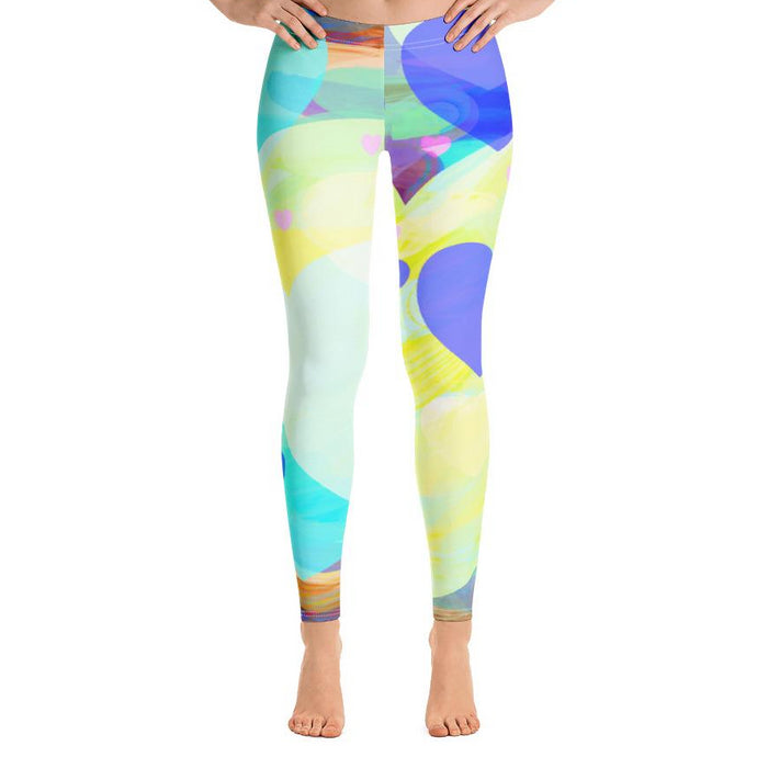 Bright Hearts All-Over Print Leggings-leggings-PureDesignTees