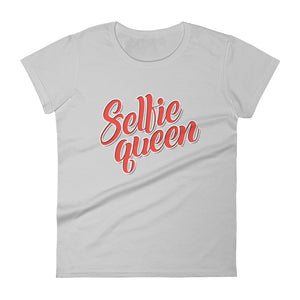 Selfie Queen Women's short sleeve t-shirt-T-Shirt-PureDesignTees