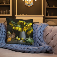 Load image into Gallery viewer, Sunflower Still Life Premium Pillow-Premium Throw Pillow-PureDesignTees