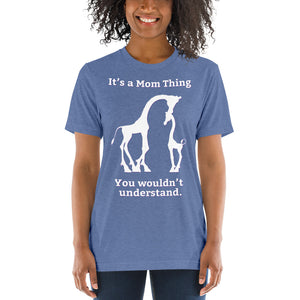 It's a Mom Thing Unisex Triblend Short Sleeve T-Shirt with Tear Away Label-Triblend T-shirt-PureDesignTees