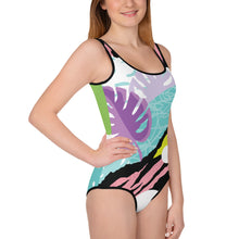 Load image into Gallery viewer, Festive All-Over Print Youth Swimsuit-PureDesignTees