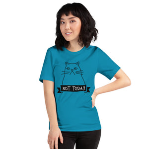 Attitude Cat - Not Today Short-Sleeve Unisex T-Shirt-T-Shirt-PureDesignTees