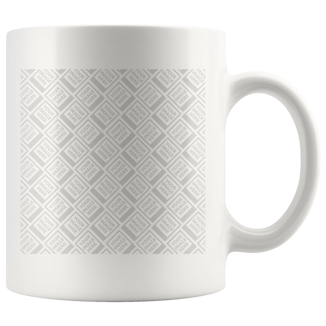 Personalized 11oz White Mug - Upload your own photo!-Drinkware Template-PureDesignTees