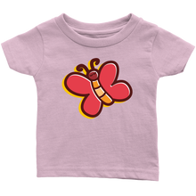 Load image into Gallery viewer, Butterfly Infant 100% Cotton T-Shirt - PureDesignTees