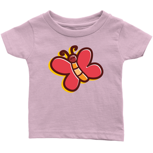 Butterfly Infant 100% Cotton T-Shirt-T-shirt-PureDesignTees