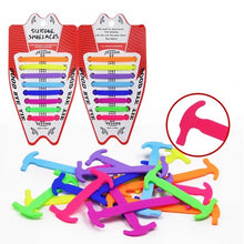 Load image into Gallery viewer, 16pcs/lot Elastic Silicone Tieless Shoelaces-Silicone Shoelaces-PureDesignTees