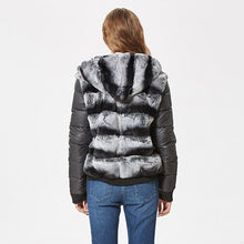 Load image into Gallery viewer, Real Rex Rabbit Hooded Fur Coat-fur coat-PureDesignTees