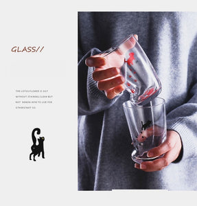 Super Cute Cat Paws Glass for the Cat Lover-glass-PureDesignTees