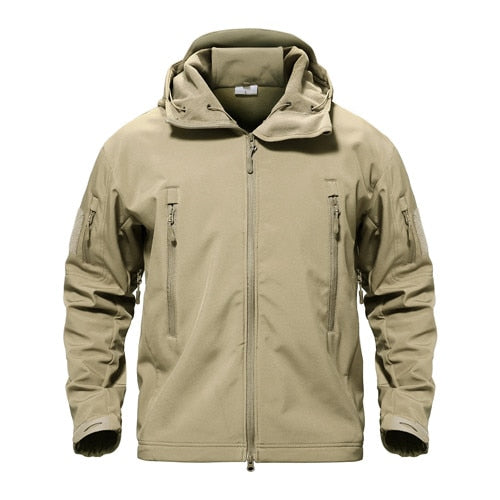 Shark Skin Military Tactical Softshell Waterproof Hoody-Jacket-PureDesignTees