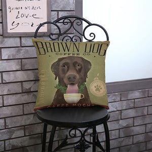 Vintage Dog Throw Pillows, Pillow - PureDesignTees