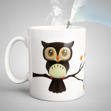 Load image into Gallery viewer, Ceramic Owl Magic Color Change Milk Coffee Tea Mug-mug-PureDesignTees