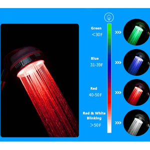 Ionic Filtered Temperature Controlled LED Shower Head