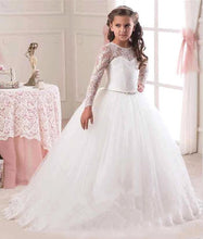 Load image into Gallery viewer, High-End Tulle Lace Long Sleeve Pageant Flower Girl Dress-Formal Girl's Dress-PureDesignTees