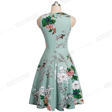 Load image into Gallery viewer, Vintage Casual Round Neck A-line Floral Print Dress-dress-PureDesignTees