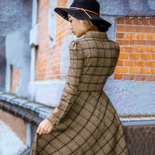 Load image into Gallery viewer, Modest Vintage Stylish Plaid Wool Dress